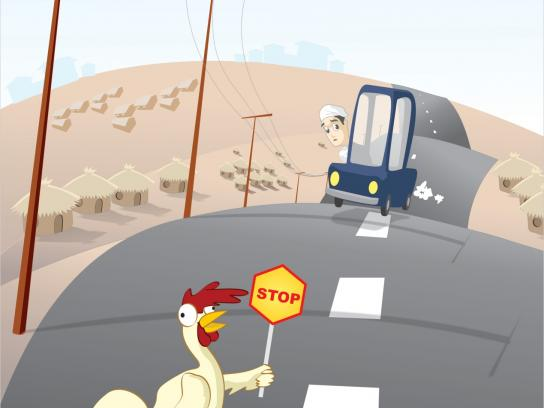 Chicken Republic Print Ad -  Road Kill