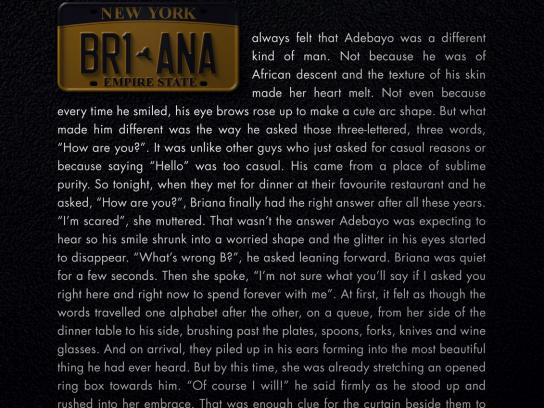 Mercedes Print Ad - Road Story - Briana