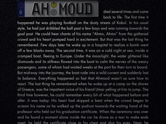 Mercedes Print Ad - Road Story - Ahmoud
