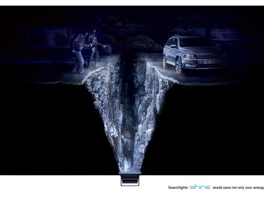 Shine Searchlights Print Ad -  Robbers