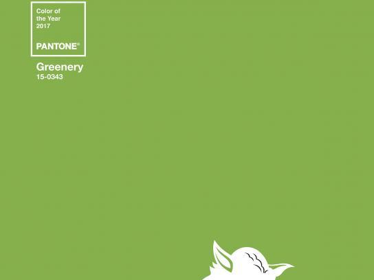 Robbialac Print Ad - Greenery Icons, Yoda