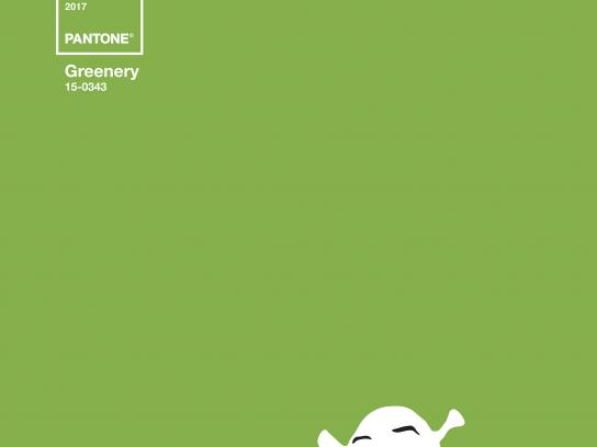Robbialac Print Ad - Greenery Icons, Shrek