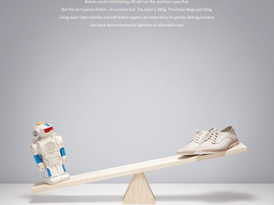 Rollie Print Ad -  Robot vs Derby Beige