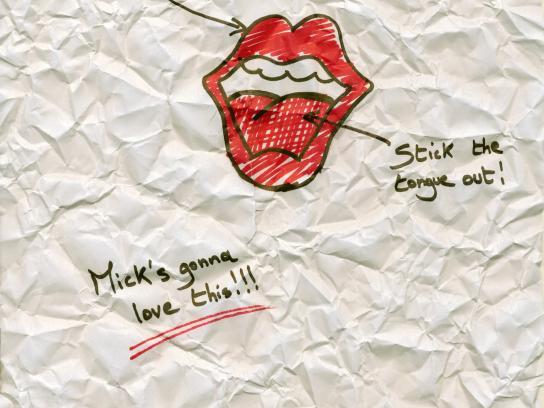 Sharpie Print Ad -  Rolling Stones