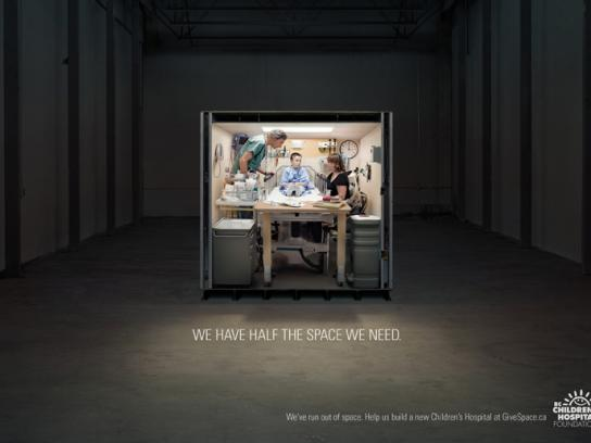 BC Children's Hospital Print Ad -  Examination room