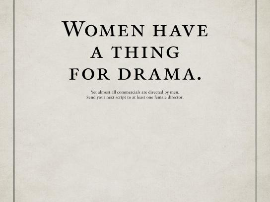 Roy Awards Print Ad -  Women have a thing for drama