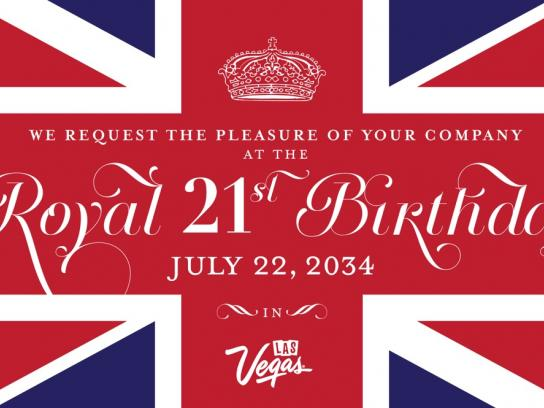 Las Vegas Convention and Visitors Authority Outdoor Ad -  Royal birthday