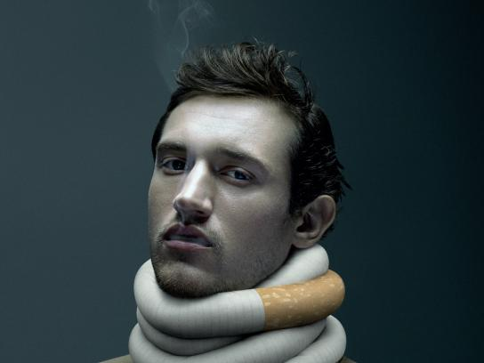 RSEQ / De Facto Print Ad - Nicotine addiction - man