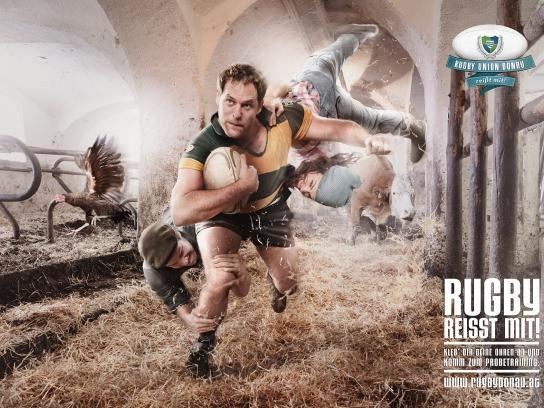 Rugby Donau Wien Print Ad -  Grabs you, 1