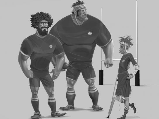 Nissan Print Ad -  Rugby