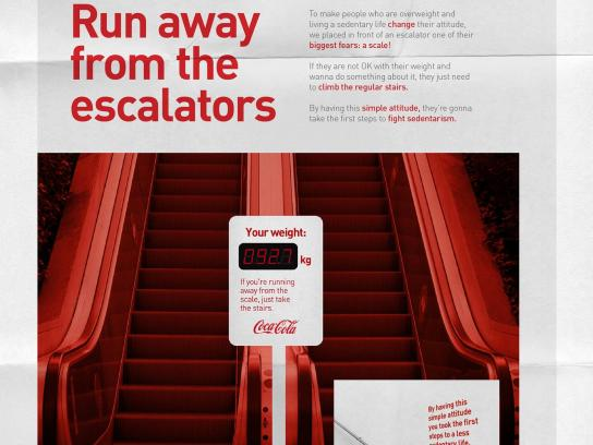 Coca-Cola Outdoor Ad -  Run Away from the escalators