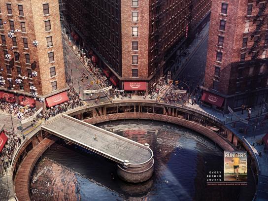 Runner's Magazine Print Ad -  Clock NYC