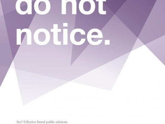 Reichl und Partner Outdoor Ad -  Do not notice