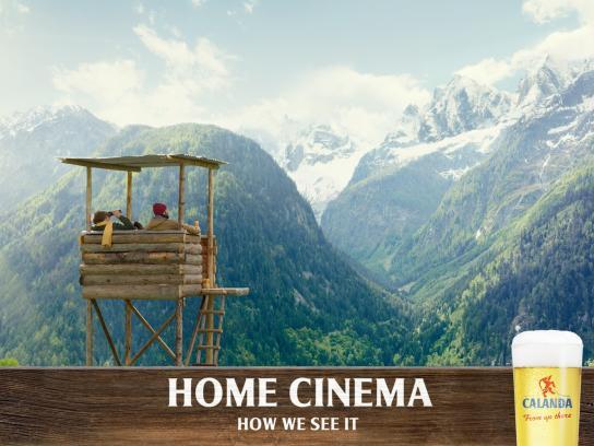 Calanda Print Ad -  Home Cinema