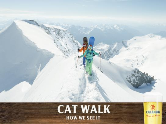Calanda Print Ad -  Cat Walk