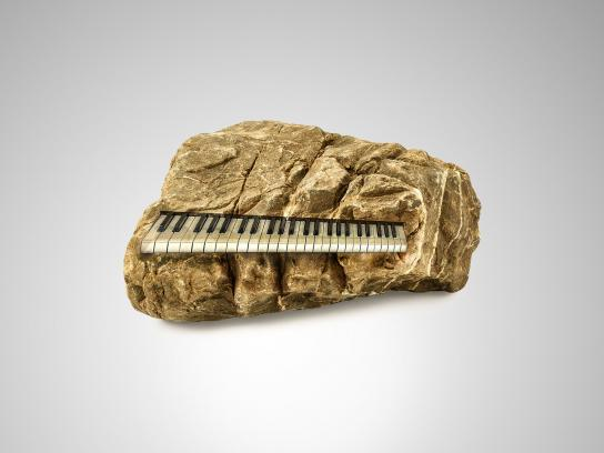 Rock Radio Print Ad - Piano