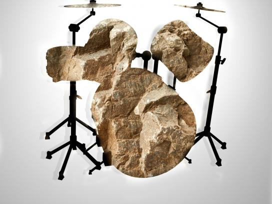 Rock Radio Print Ad - Drums