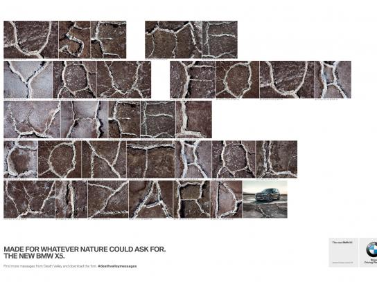 BMW Print Ad -  Death Valley Messages, 1