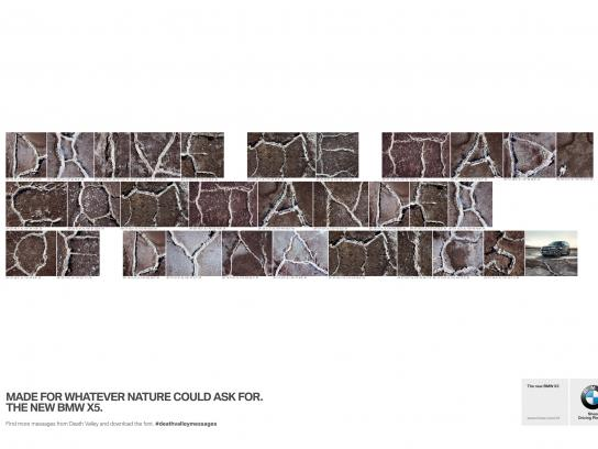 BMW Print Ad -  Death Valley Messages, 4