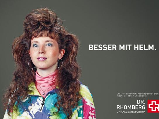 Dr. Rhomberg Medical Centre Outdoor Ad -  Better with a helmet, 2
