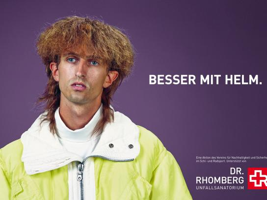 Dr. Rhomberg Medical Centre Outdoor Ad -  Better with a helmet, 3