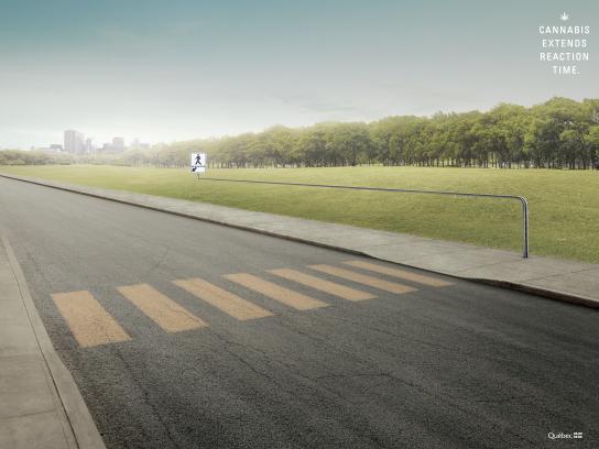 SAAQ Print Ad - Pedestrian