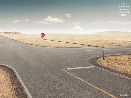 SAAQ Print Ad - Stop
