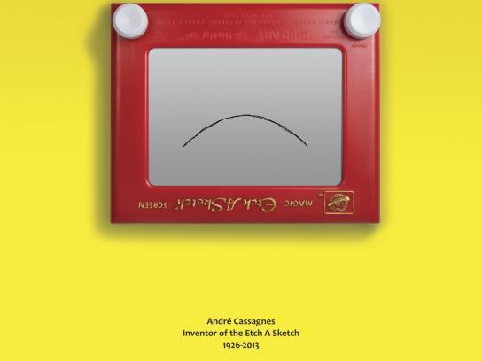 Etch A Sketch Print Ad -  Andre Cassagnes 1926-2013