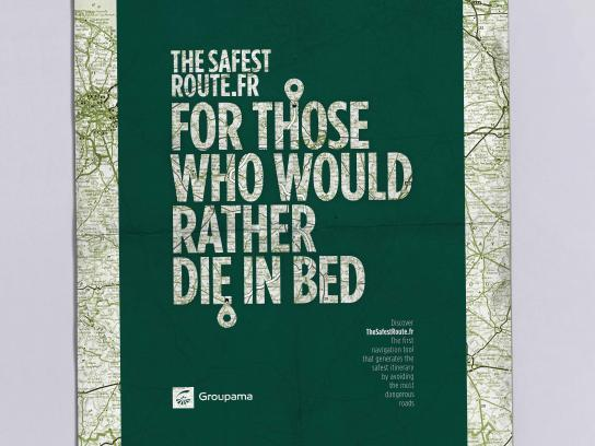 Groupama Print Ad - Bed