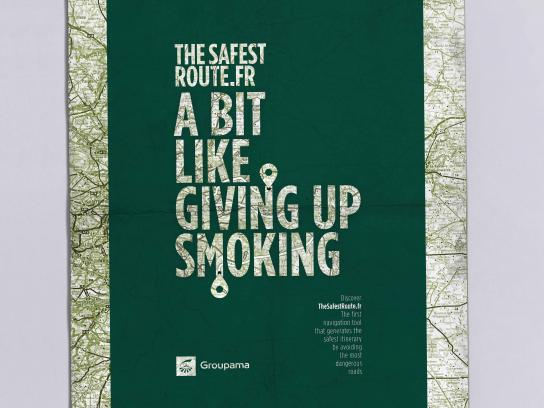 Groupama Print Ad - Smoking