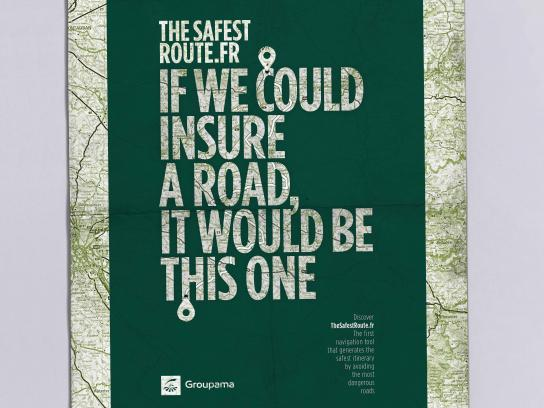 Groupama Print Ad - Road