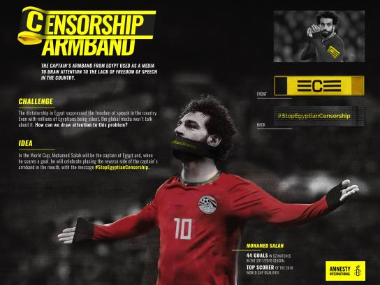 Amnesty International Outdoor Ad - Censorship Armband