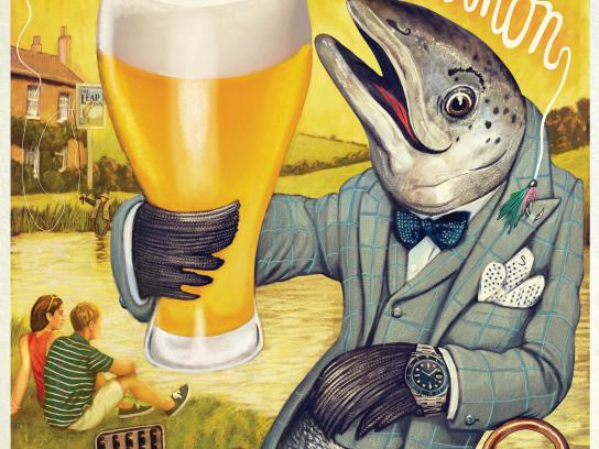 Britain's Beer Alliance Print Ad - Salmon