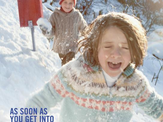 Poste Italiane Print Ad -  Snow
