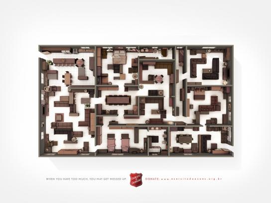 Salvation Army Print Ad -  Labyrinth