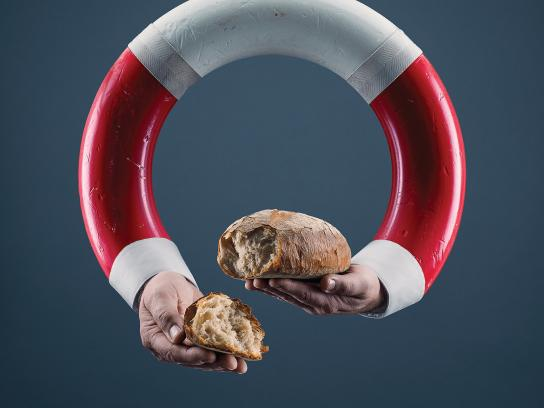 Salvation Army Print Ad - Life saver - Bread