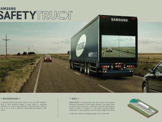 Samsung Outdoor Ad -  Safety truck