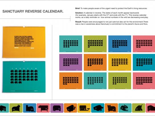 Sanctuary India Direct Ad -  Reverse Calendar