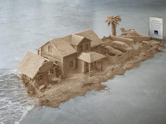 AXA Print Ad -  Sand