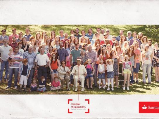 Santander Print Ad -  Family, 1