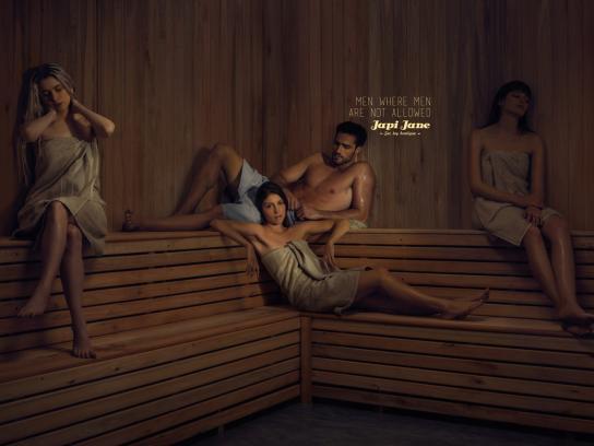 Japi Jane Print Ad -  Sauna
