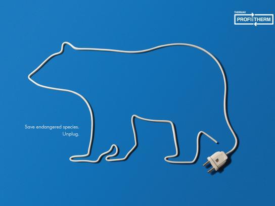 Thermax Profetherm Print Ad -  Polar bear