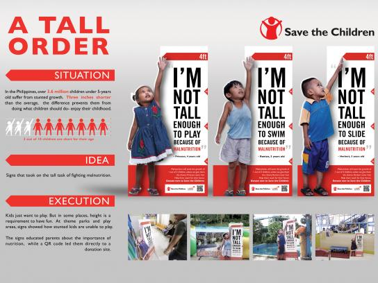 Save the Children Outdoor Ad - A tall order