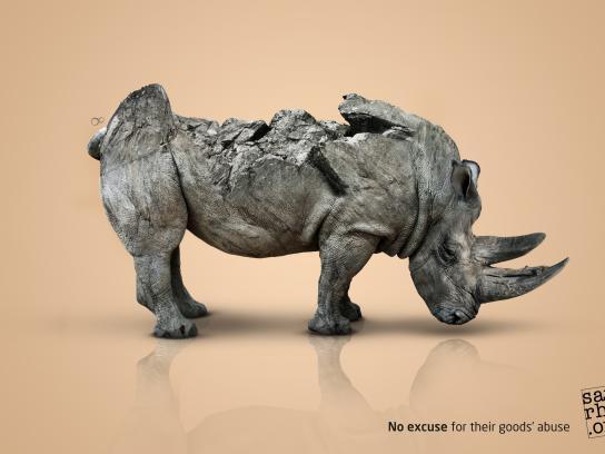 SavingRhinos.org Print Ad - Saving Rhino