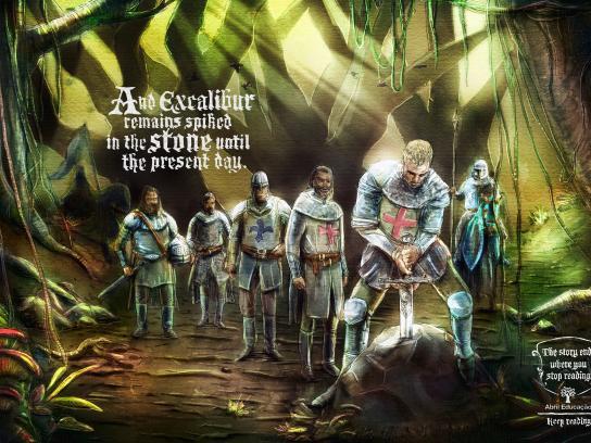 Abril Educacao Print Ad -  Excalibur