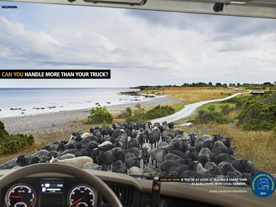 Scania Print Ad -  Can you handle more than your truck, 1