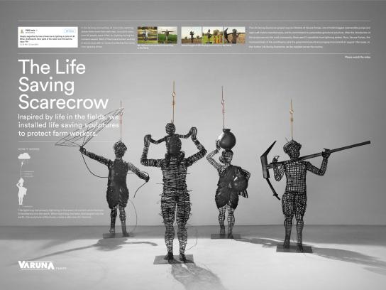 Varuna Pumps Outdoor Ad - Life Saving Scarecrow