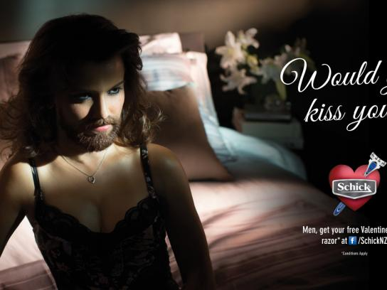 Schick Outdoor Ad -  Would you kiss you?, 3