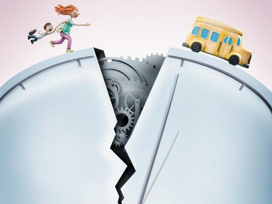 Tigo Print Ad -  School Bus