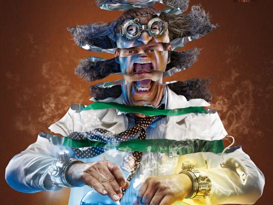 Snickers Print Ad -  Mad scientist